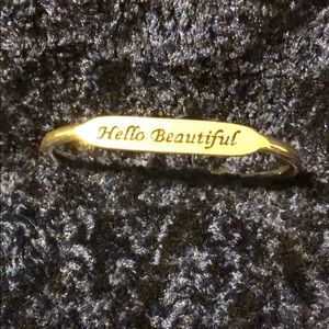 AVON Silver Cuff Bracelet HELLO BEAUTIFUL 😍